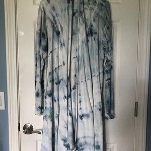 Long Hand Died Tie-Dye Cardigan